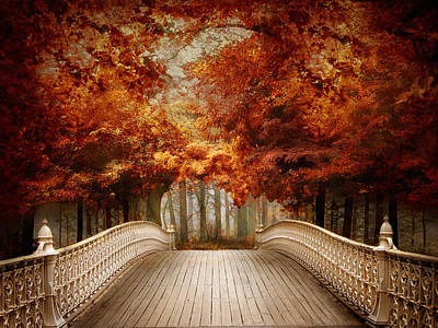 Photograph - A Bridge To Autumn by Jessica Jenney