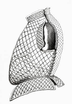 Rivets Drawing - A Brigandine Jacket Dating From A.d by Vintage Design Pics
