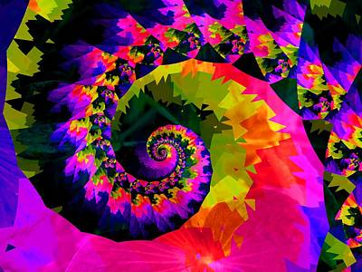 Digital Art - A Bright And Breezy Spiral by Nancy Pauling