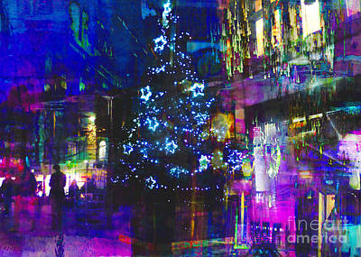 Print featuring the photograph A Bright And Colourful Christmas by LemonArt Photography