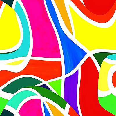 Drawing - A Brighter Day Coming Abstract by Yvonne Carson