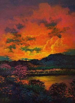 Painting - A Brightness So Dark by Randy Burns