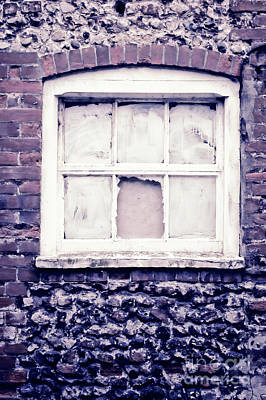 Vintage Photograph - A Broken Window by Tom Gowanlock