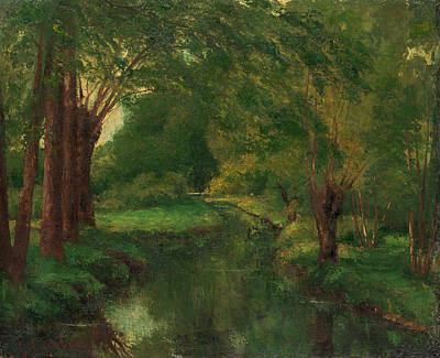 Courbet Painting - A Brook In A Clearing by Gustave Courbet