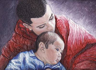 Keenya Woods Painting - A Brothers Love  by Keenya  Woods