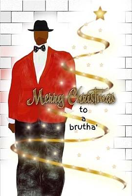 Digital Art - A Brutha's Christmas by Romaine Head