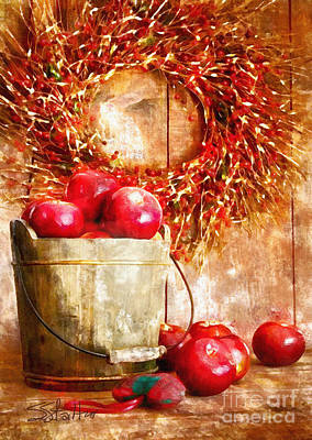 Painting - A Bucket Of Apples by Shirley Stalter