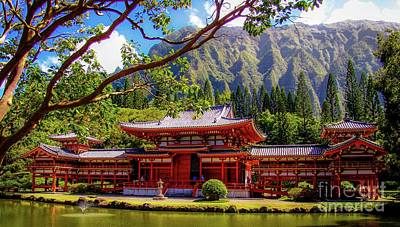 Photograph - Buddhist Temple - Oahu, Hawaii - by D Davila