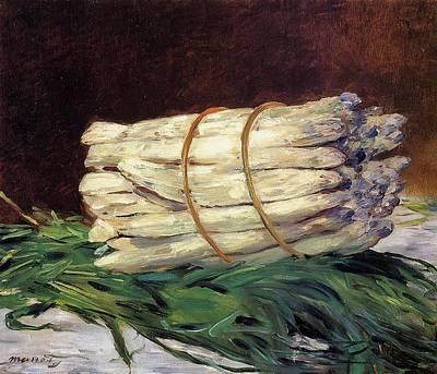 Asparagus Digital Art - A Bunch Of Asparagus   1880 by Anne Pool