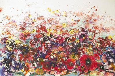 A Bunch Of Flowers Original by Shirley Sykes Bracken