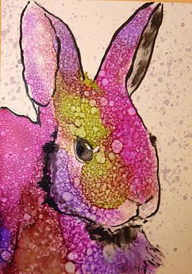 A Bunny Raggitt Art Print by P Maure Bausch