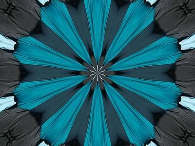 A Burst Of Blue Art Print