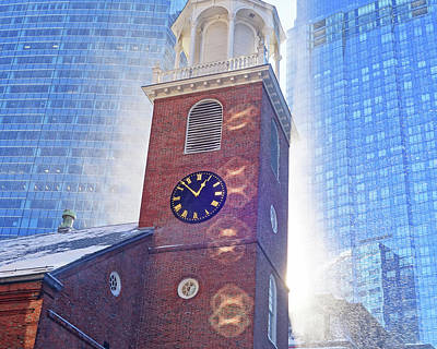 Photograph - A Burst Of Sun And Snow From The Old South Meeting House Boston Ma by Toby McGuire
