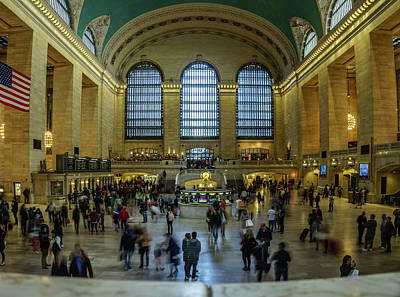A Busy Day At The Grand Central Terminal Art Print