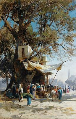 Market Painting - A Busy Market Scene by David