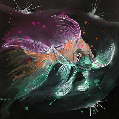 A Butterfly Koi Art Print
