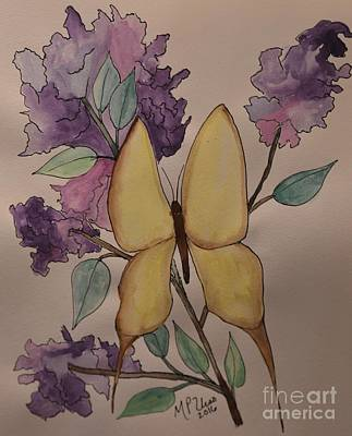 Painting - A Butterfly's Love by Maria Urso