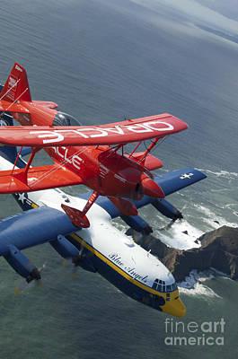 Fleet Week Photograph - A C-130 Hercules Fat Albert Aircraft by Stocktrek Images