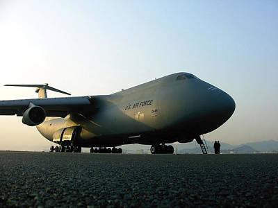 A C-5 Galaxy Sits On The Flightline Art Print