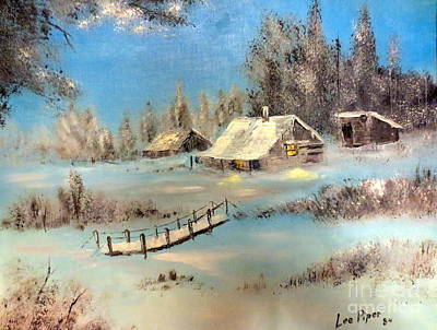 Painting - A Cabin In The Woods by Lee Piper