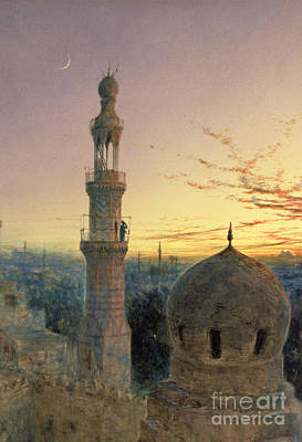 Arabs Painting - A Call To Prayer by Henry Stanier