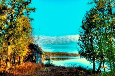 Canoe Photograph - A Calm Day On 7th Lake by David Patterson