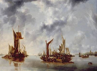 Rays Painting - A Calm by Jan van de Capelle