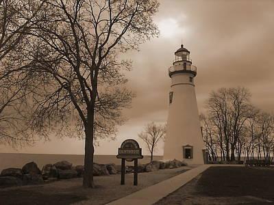 A Calm  Silence Lighthouse Art Print