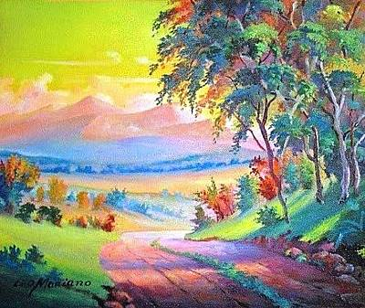 Painting - A Caminho De Pasargada by Leomariano artist BRASIL