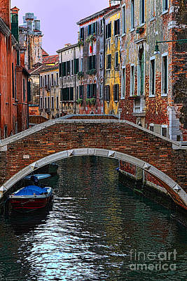 A Canal In Venice Art Print by Tom Prendergast