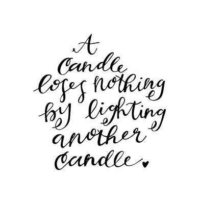 A Candle Print by Nancy Ingersoll