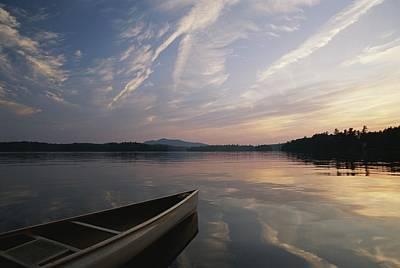 A Canoe On The Lower St. Regis Lake Art Print