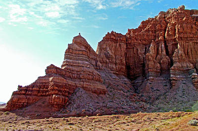 Photograph - A Canyon Wall In Carmel Canyon Trail In Goblin Valley State Park, Utah by Ruth Hager