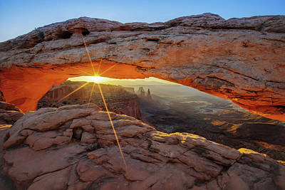 Photograph - A Canyonland Sunrise - Mesa Arch - Moab Utah Usa by Gregory Ballos