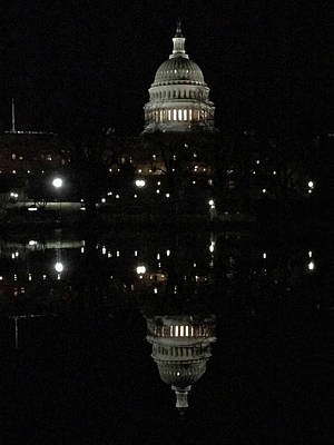 Photograph - A Capitol Reflection by Don Mercer