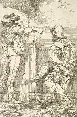 Relief - A Captain Of Banditti Sending Out A Party by John Hamilton Mortimer