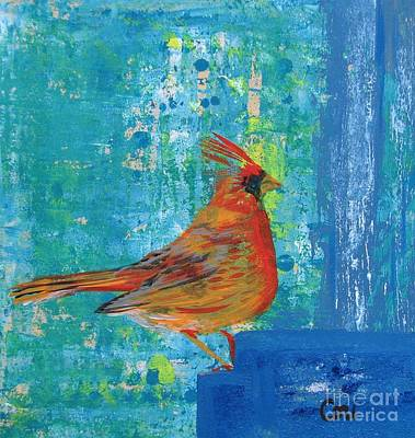Painting - A Cardinal Came By by Corinne Carroll