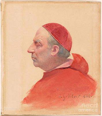 Clothed Painting - A Cardinal In Profile by MotionAge Designs