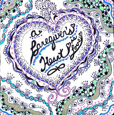 Drawing - A Caring Heart by Carole Brecht