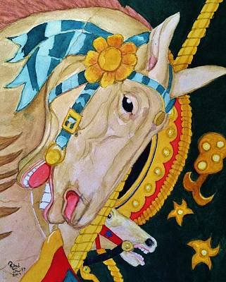Painting - A Carousel Horse by Rand Swift