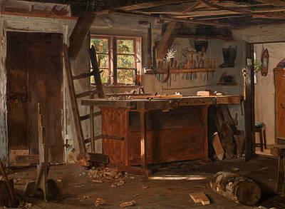 Carpenter Painting - A Carpenter's Workshop by Christen Dalsgaard