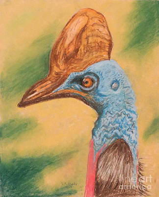 A Cassowary Stoned Out Of Its Mind Art Print