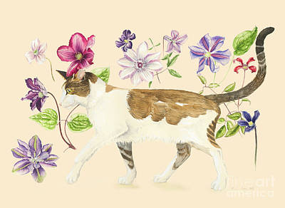 Watercolor Pet Portraits Wall Art - Painting - A Cat Called Dave by Alison Cooper
