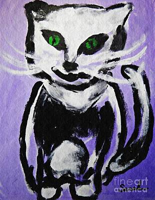Education Painting - A Cat For Julia by Sarah Loft