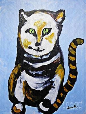 Fanciful Painting - A Cat For Lynne by Sarah Loft
