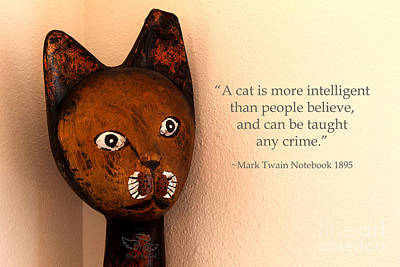 A Cat Is More Intelligent Art Print