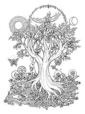 Easter Celebration Drawing - A Celebration Of Spring by Katherine Nutt