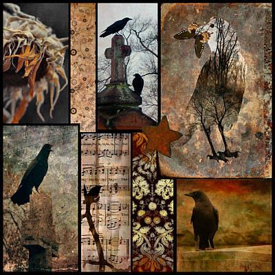 A Celebration Of Vintage Crows Art Print