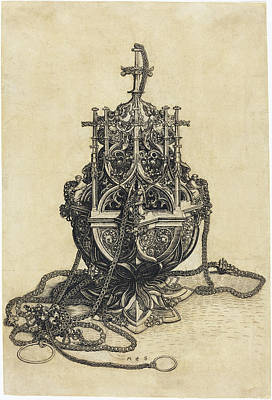 Drawing - A Censer by Martin Schongauer