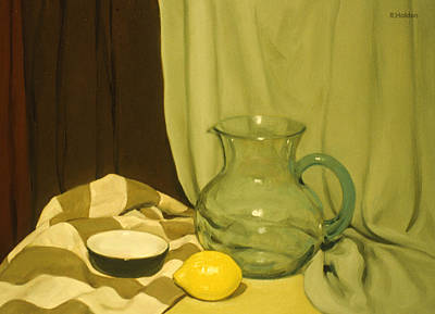 Painting - A Centered Lemon by Robert Holden